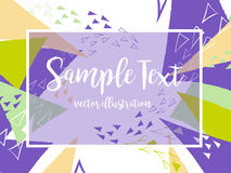 Creative abstract colorful vector background with triangle and lines.. Geometric shapes, Abstract Modern layout in Hand Drawn style Royalty Free Stock Photography