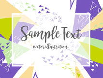 Creative abstract colorful vector background with triangle and lines. Stock Photos