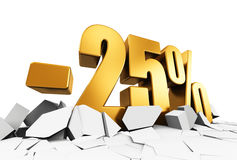 25 percent sale and discount advertisement concept Royalty Free Stock Images
