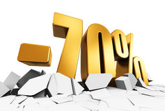 70 percent sale and discount advertisement concept Stock Photo