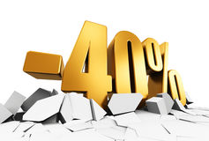 40 percent sale and discount advertisement concept Royalty Free Stock Images