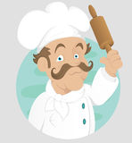 Chef - Cook - Cartoon Character - Vector Illustration Royalty Free Stock Photography