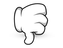 Cartoon Hand - Thumbs Down - Vector Illustration Stock Photo
