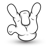 Cartoon Hand - Middle Finger Down  - Vector Illustration Royalty Free Stock Image