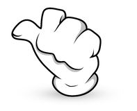 Cartoon Hand - Asking for Lift - Vector Illustration Stock Photography