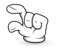 Cartoon Hand - Finger Pointing - Vector Illustration Royalty Free Stock Image