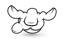Cartoon Hand - Magic Spell  - Vector Illustration Royalty Free Stock Image