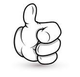 Cartoon Hand - Thumbs up- Vector Illustration Royalty Free Stock Image