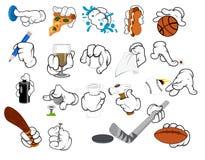 Cartoon Hand Gestures - Vector Illustration Royalty Free Stock Image