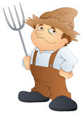 Farmer - Cartoon Character - Vector Illustration Stock Image