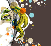Creative abstract design royalty free illustration