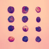 Creative abstract design concept - vintage dried fruits Royalty Free Stock Photography