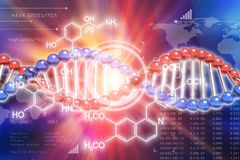 DNA genetic research science concept Stock Illustration