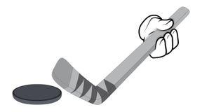Cartoon Hand - Hockey - Vector Illustration Stock Image