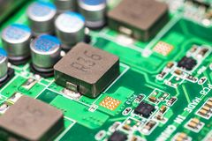 Electronic circuit board PCB Royalty Free Stock Photography