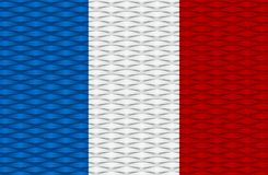 Creative Abstract Flag of France Stock Photography