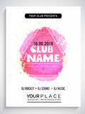 Creative abstract flyer, template or banner. Royalty Free Stock Photos