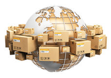 Global shipping and worldwide logistics concept Royalty Free Stock Photos