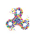 Creative abstract hand spinner, fidget spinner. Vector modern flat style cartoon colorfull illustration icon design.  on white background.Fidget spinner Royalty Free Stock Photos