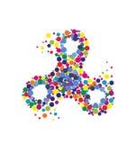 Creative abstract hand spinner, fidget spinner. Vector modern flat style cartoon colorfull illustration icon design.  on white background.Fidget spinner Stock Illustration