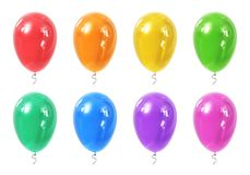 Set of color inflatable air balloons Stock Photography
