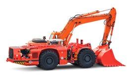 Big heavy excavator isolated on white background Royalty Free Stock Image