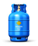 Liquefied oxygen industrial gas container Royalty Free Stock Photos