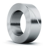 Hunk of metal cable Royalty Free Stock Images