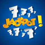 Creative Abstract Jackpot symbol Royalty Free Stock Photo