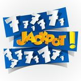 Creative Abstract Jackpot symbol stock illustration
