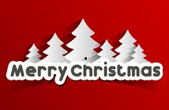 Creative Abstract Merry Christmas Card Royalty Free Stock Image