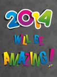 Creative Abstract New Year 2014 Card Royalty Free Stock Image