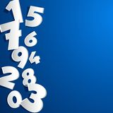 Creative abstract numbers Stock Images
