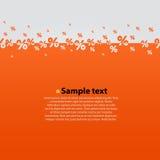Creative abstract orange percent background. Stock Photos
