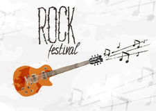Creative abstract poster rock festival Royalty Free Stock Photo
