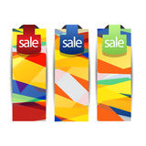Creative, Abstract Standard Size Web sale Banner or headers for Ads Royalty Free Stock Photo