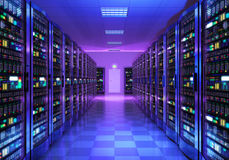 Server room interior in datacenter Royalty Free Stock Image