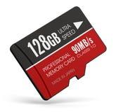 High speed 128GB MicroSD flash memory cards Stock Photos
