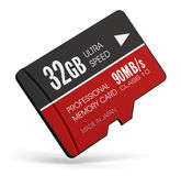 High speed 32GB MicroSD flash memory cards Stock Images
