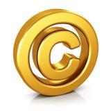 Copyright symbol isolated on white background Stock Photo