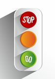 Creative Abstract Traffic Lights Royalty Free Stock Image