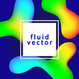 Creative Abstract Vector Background With Fluid Colorful Shapes Royalty Free Stock Photography