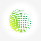 Creative abstract, vibrant and colorful icon Sphere Globe. A simple abstract Globe Sphere pixels logo set for your possible business. Yoga, zen, meditation Royalty Free Stock Photo