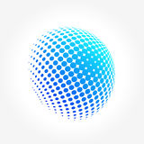 Creative abstract, vibrant and colorful icon Sphere Globe. A simple abstract Globe Sphere pixels logo set for your possible business. Yoga, zen, meditation Stock Photo
