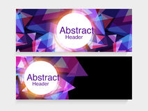 Creative abstract web header or banner set. Stock Images