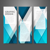 Creative advertising banner template in blue vector illustration