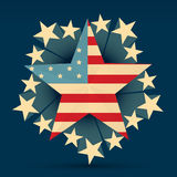 Creative american flag Royalty Free Stock Image