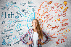 Creative and analytical thinking concept Stock Photos