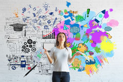 Creative and analytical thinking concept Stock Images
