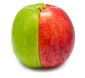 The creative apple combined from two half Royalty Free Stock Photography